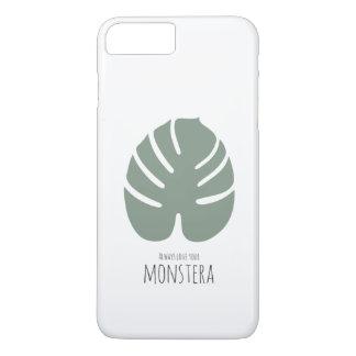 "Apple iPhone 7 & 8 pluses covering ""Monstera Love iPhone 8 Plus/7 Plus Case"