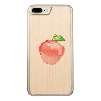 Apple iPhone 7 Plus Slim Maple Wood Case art by JS