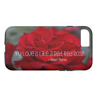 Apple iPhone 7, Tough Phone Case My Love Red Rose