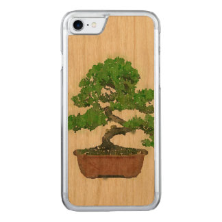 Apple iPhone 7 Wood Case: Japanese Bonsai Tree Carved iPhone 8/7 Case