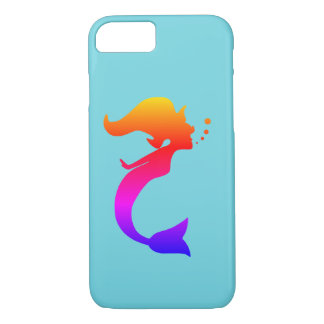 Apple Iphone Case Mermaid Silhouette Aqua