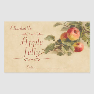 Apple jelly or canning rectangular sticker