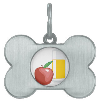 Apple Juice Pet Name Tag