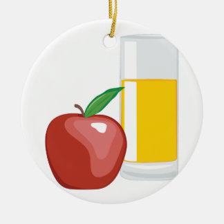 Apple Juice Round Ceramic Decoration