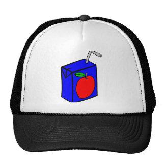 Apple juice with straw mesh hat