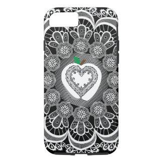 (apple, lace & heart) iPhone 8/7 case