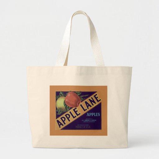 """""""Apple Lane"""" Fruit Crate Label Tote Tote Bag"""