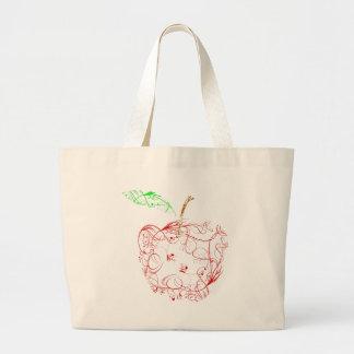 apple large tote bag