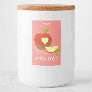 Apple Love Food Label