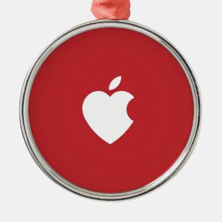 Apple Love Metal Ornament