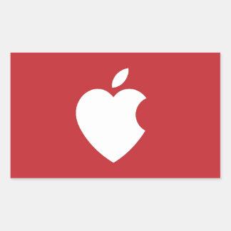 Apple Love Rectangular Sticker