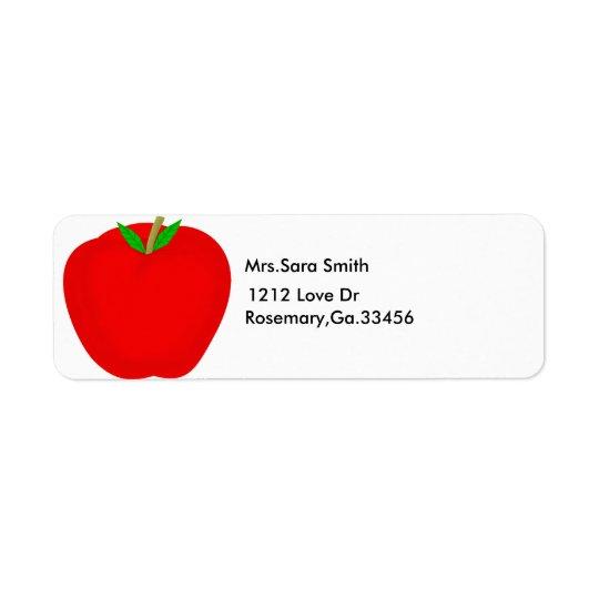 apple, Mrs.Sara Smith, 1212 Love Dr, Rosemary,G... Return Address Label