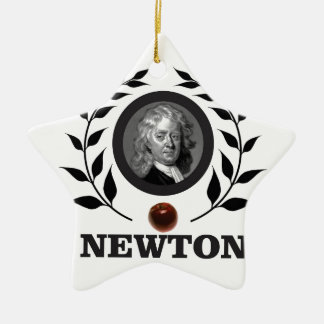 apple newton art ceramic ornament