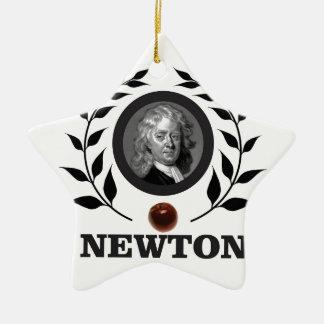 apple newton art ceramic star decoration