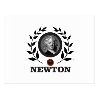 apple newton art postcard