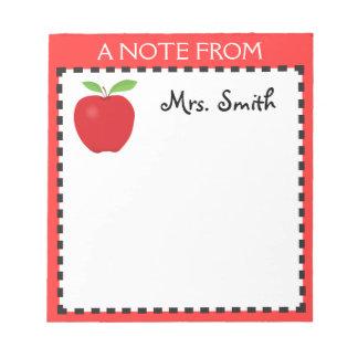 Apple notepad for a Teacher