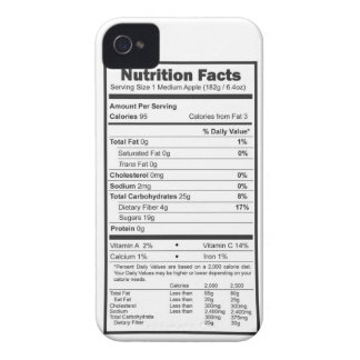 apple nutrition facts iPhone 4 cover