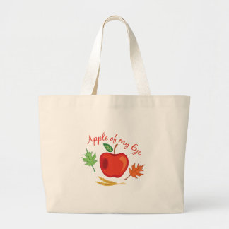 Apple Of Eye Large Tote Bag
