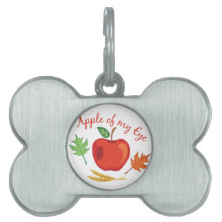Apple Of Eye Pet Tag