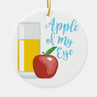 Apple Of Eye Round Ceramic Decoration