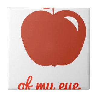 Apple of my eye merchandise ceramic tile