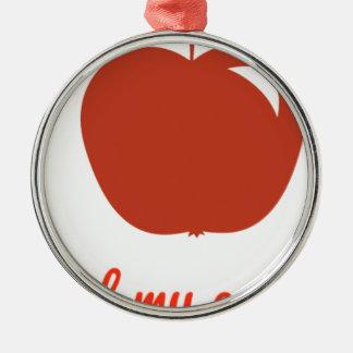 Apple of my eye merchandise metal ornament