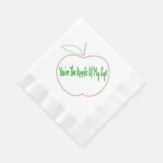Apple of my eye napkins disposable serviette