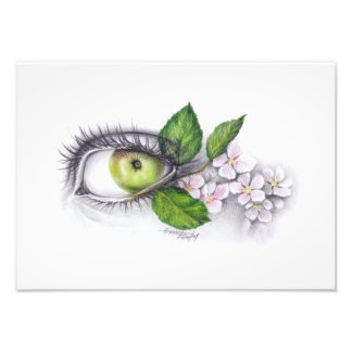 Apple of my eye Pencil art Photo print