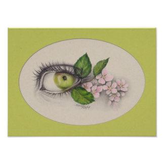 Apple of my eye Surreal art Photo print