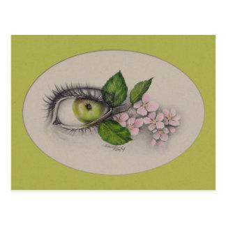 Apple of my eye Surreal art Postcard