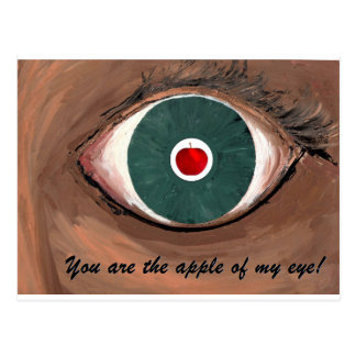 APPLE OF MY EYE - with lettering.jpg Postcard