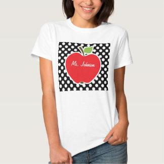 Apple on Black and White Polka Dots Shirts