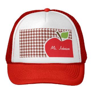 Apple on Burnt Umber Houndstooth Trucker Hat