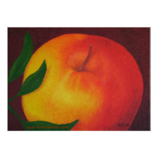 Apple on Canvas Poster