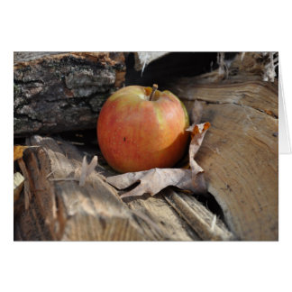 Apple on the Wood Pile Greeting Card