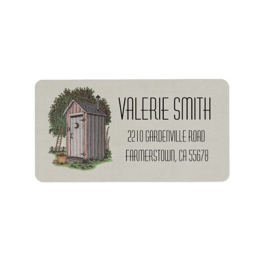 Apple Orchard Outhouse Address Label