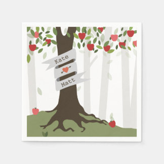 Apple Orchard Wedding Napkins Disposable Napkin