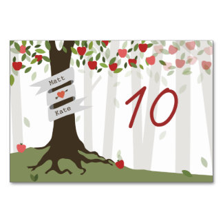 Apple Orchard Wedding Table Number Card