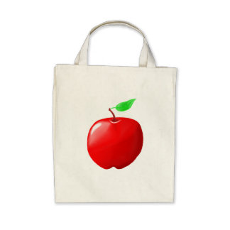 Apple Organic Grocery Tote Tote Bag