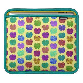 Apple Pattern Bright Colors iPad Sleeve