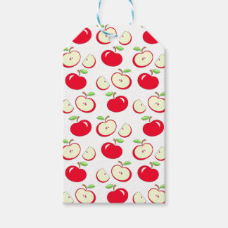Apple pattern gift tags