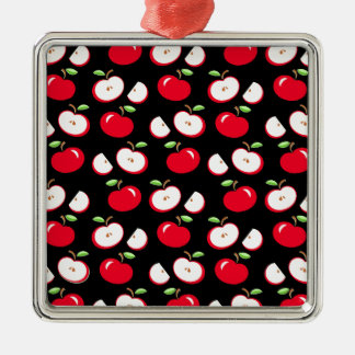Apple pattern Silver-Colored square decoration