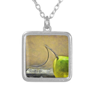 Apple Phone Silver Plated Necklace