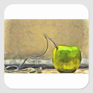 Apple Phone Square Sticker