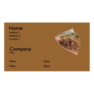 Apple pie a la mode Double-Sided standard business cards (Pack of 100)