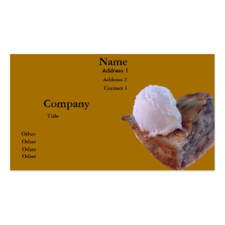 Apple pie a la mode pack of standard business cards