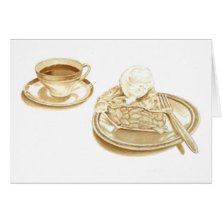 Apple Pie and Coffee Card