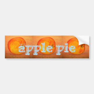 apple pie bumper sticker