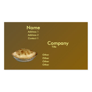 Apple Pie Double-Sided Standard Business Cards (Pack Of 100)