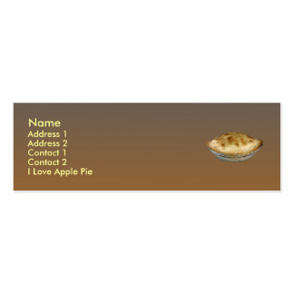 Apple Pie Double-Sided Mini Business Cards (Pack Of 20)